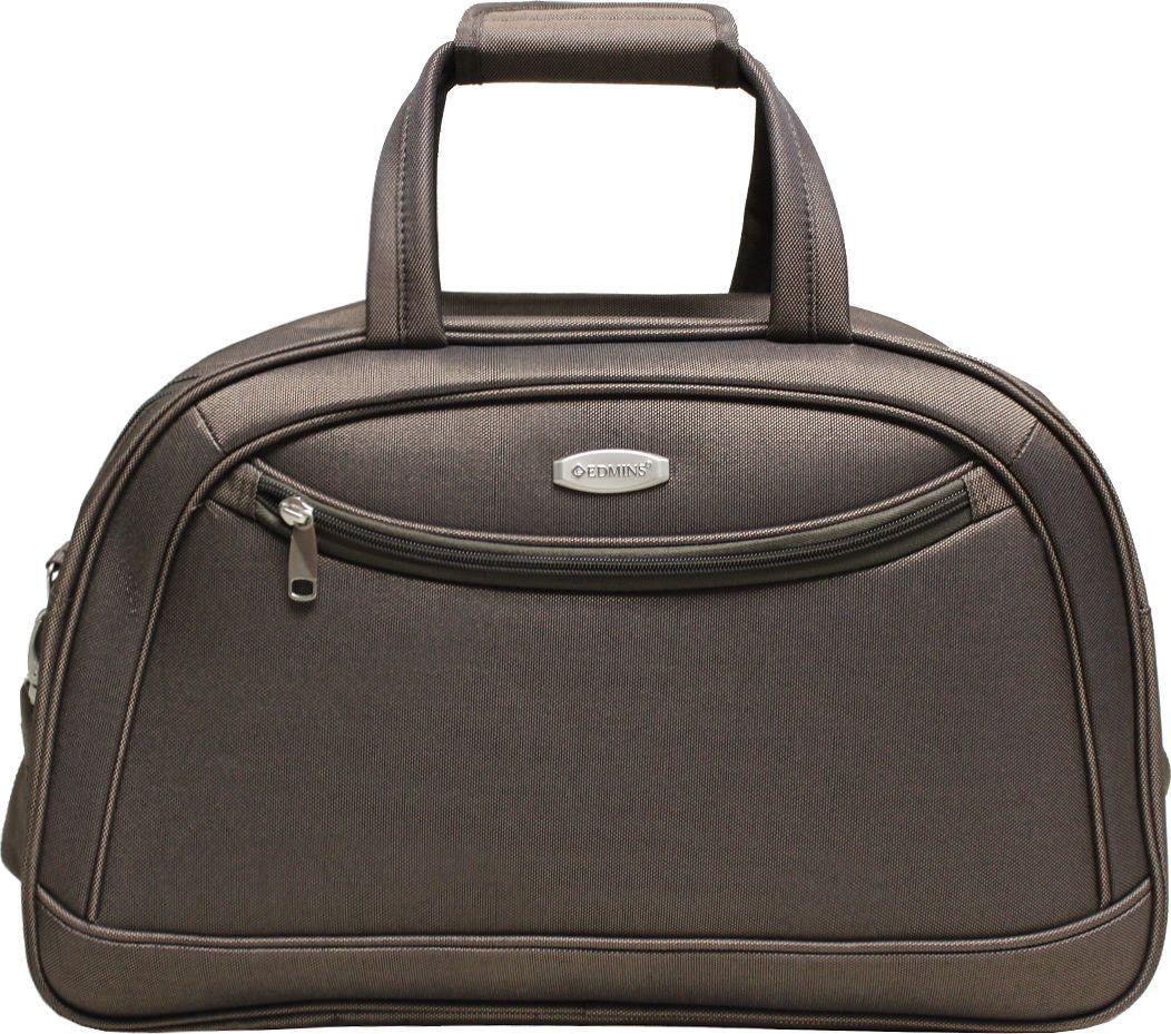 Сумка дорожная Edmins, цвет: коричневый, 33,5 л. 213 НF 420*10213 НF 420*10Сумка выполнена из легкой, очень прочной ткани, которая великолепно сохраняет форму и проста в уходе. Данная модель удобна и практична: имеет широкий плечевой ремень, 2 ручки-переноски, умный карман, который позволяет одевать сумку на ручку чемодана, освобождая Ваши руки, а также жесткое дно, которое можно поднять, для компактного хранения сумки. Внутри имеется дополнительный карман на молнии. На внешней стороне находится вместительный карман на молнии, который позволяет все самое необходимое хранить под рукой. Максимальная нагрузка: 7кг. Внешние размеры: 51х20х33 см. Вес 1кг. Объем 33,5 л. Гарантия 2 года.