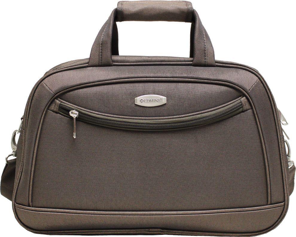 Сумка дорожная Edmins, цвет: коричневый, 22 л. 213 HF 415*10213 HF 415*10Сумка выполнена из легкой, очень прочной ткани, которая великолепно сохраняет форму и проста в уходе. Данная модель удобна и практична: имеет широкий плечевой ремень, 2 ручки-переноски, умный карман, который позволяет одевать сумку на ручку чемодана, освобождая Ваши руки, а также жесткое дно, которое можно поднять, для компактного хранения сумки. Внутри имеется дополнительный карман на молнии. На внешней стороне находится вместительный карман на молнии, который позволяет все самое необходимое хранить под рукой. Внешние габариты: 46х30х16 см. Вес 0,9 кг. Объем 22 л. Гарантия 2 года.