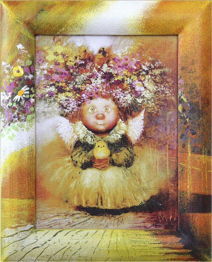 Жикле на холсте Artangels Ангел-хранитель жизни в расписном багете, 18 х 24 см. Автор Галина Чувиляева. 40574057Жикле размером 18 х 24 см в деревянном расписном багете Ангел-хранитель жизни.Авторское жикле в расписанной вручную раме. Современный мир насчитывает огромное количество изображений искусства, каждое из которых создается по своей технике. Например, жикле – это художественная печать на холсте и бумаге. Это современный вид искусства, который включает в себя использование разнообразных принтеров для репродукции картин в самом высочайшем качестве. К преимуществам использования данного вида искусства относят следующие показатели – долговечность полученного изображения, высочайшее качество отображения. Жикле – это французское слово, которое как раз и означает распыление, чтобы создать высококачественный шедевр, необходимо задействовать специальные принтеры. А в качестве материалов, которые необходимы для печати, используют специализированные холсты на основе хлопка или льна, помимо этого задействуются следующие материалы – высококачественные составы красок, акварельная бумага и другие характерные для этого вида искусства специализированные материалы. Безусловно, сейчас существует большое количество других способов цветопередачи, однако именно жикле обеспечивает максимальное качество, долговечность.
