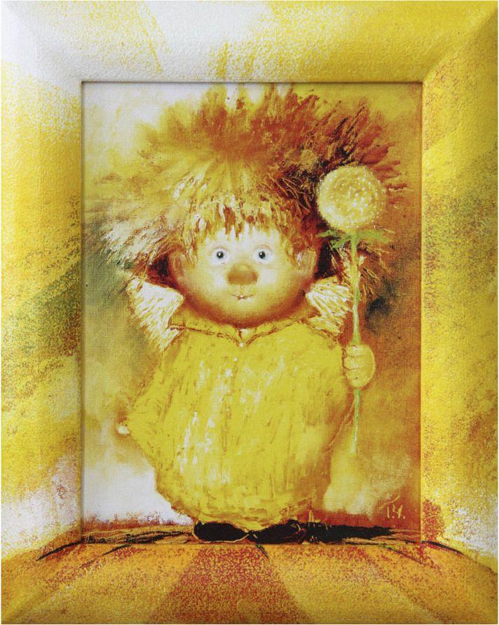 Жикле на холсте Artangels Ангел крепкого здоровья в расписном багете, 18 х 24 см. Автор Галина и Люся Чувиляевы. 40614061Жикле размером 18 х 24 см в деревянном расписном багете Ангел крепкого здоровья.Авторское жикле в расписанной вручную раме. Современный мир насчитывает огромное количество изображений искусства, каждое из которых создается по своей технике. Например, жикле – это художественная печать на холсте и бумаге. Это современный вид искусства, который включает в себя использование разнообразных принтеров для репродукции картин в самом высочайшем качестве. К преимуществам использования данного вида искусства относят следующие показатели – долговечность полученного изображения, высочайшее качество отображения. Жикле – это французское слово, которое как раз и означает распыление, чтобы создать высококачественный шедевр, необходимо задействовать специальные принтеры. А в качестве материалов, которые необходимы для печати, используют специализированные холсты на основе хлопка или льна, помимо этого задействуются следующие материалы – высококачественные составы красок, акварельная бумага и другие характерные для этого вида искусства специализированные материалы. Безусловно, сейчас существует большое количество других способов цветопередачи, однако именно жикле обеспечивает максимальное качество, долговечность.