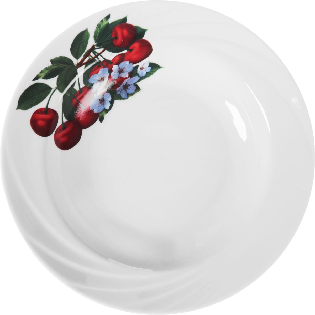 Тарелка глубокая Голубка. Ассорти, диаметр 20 см115510Глубокая тарелка Голубка. Ассорти, выполненная из высококачественного фарфора, идеальна для сервировки стола первыми блюдами. К тому же, такая тарелка великолепна в качестве емкости при приготовлении - ее можно использовать для ингредиентов салатов, закусок и других блюд. Она прекрасно впишется в интерьер вашей кухни и станет достойным дополнением к кухонному инвентарю.