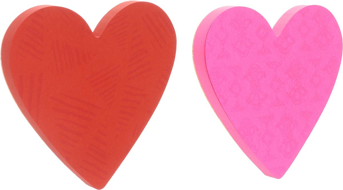 Post-it Бумага для заметок Сердце с липким слоем цвет розовый красный 150 листов127518Фигурные клейкие листочки Post-it Сердце подчеркнут вашу индивидуальность! Яркие цвета, форма сердечка, фоновые рисунки на каждом листочке - такое сообщение невозможно не заметить.Несмотря на свою оригинальную форму, они приклеиваются также хорошо, как традиционные.