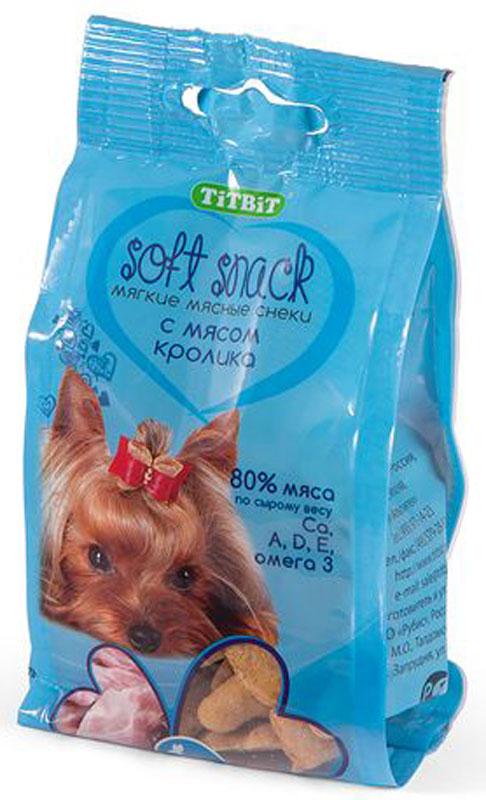 Снек Титбит, с мясом кролика, 100 г0120710Мягкие снеки TiTBiT Soft Snack – это лакомства для собак, содержащие не менее 80% натуральных мясных компонентов. Не содержат злаки, кукурузу, глютен, соевые продукты. Без добавления искусственных красителей, консервантов, ароматизаторов. Обладают привлекательными вкусами и ароматами, которые понравятся Вашему питомцу.