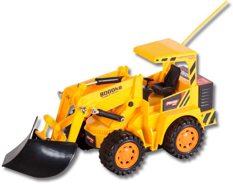 Радиоуправляемый бульдозер – очень важная игрушка на детской площадке! Мальчики смогут организовать себе настоящую мини-стройку. Ковш у машинки поднимается и опускается, что помогает рыть землю или перевозить ее в другое место. Аккумуляторные батарейки можно заряжать специальным зарядным устройством, которое идет в комплекте с игрушкой.