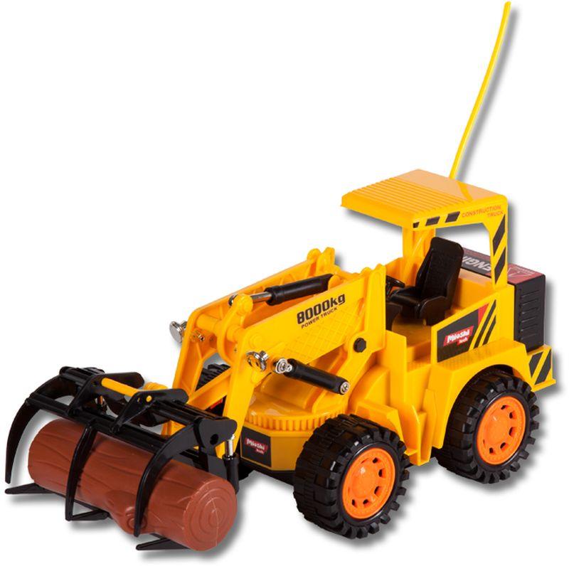 Автопогрузчик – это машина строительной техники для погрузки, разгрузки и перевозки грузов на небольшие расстояния. Ковш у этой игрушки поднимается и опускается, что позволяет ей совсем не отличаться по возможностям от настоящей большой машины.Автопогрузчик управляется с помощью пульта дистанционного управления, который идет в комплекте.