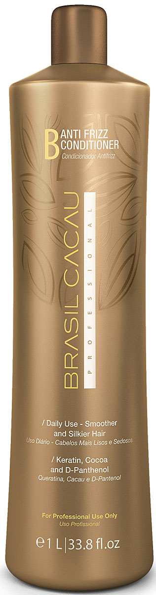 Brasil Cacau Кондиционер-домашний уход Anti Frizz 1000 мл12420Для ежедневного ухода используйте кондиционер BrasilCacau . Это средство увеличит прочность и эластичность Ваших волос, помогая сохранить эффект глубокого восстановления.