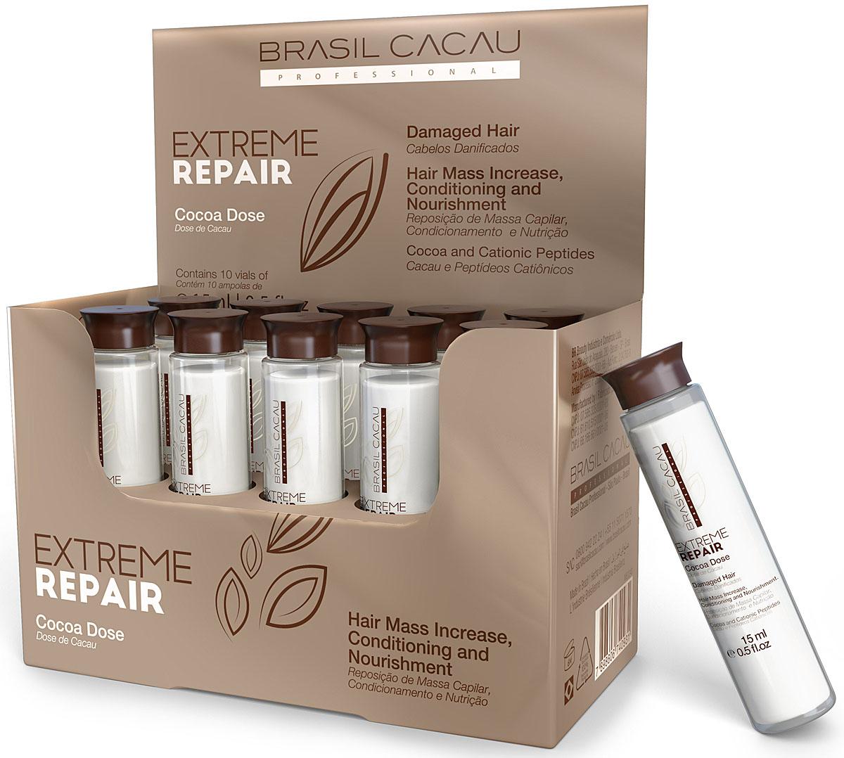 Brasil Cacau Концентрат в ампулах Extreme Repair 10 ампул по 15 млMP59.4DВосстанавливающий концентрат. Работа с поврежденными волокнами волоса. Интенсивно питает и восстанавливает структурную целостность волос от кутикулы до кортекса. Повышает прочность и эластичность, защищает от воздействий окружающей среды ,от химических воздействий. Способствует мгновенному насыщению питательными ингредиентами. Восстанавливает структуру волоса изнутри. Обогащен молочной кислотой, богат антиоксидантами, содержит масло Ши, масло Какао, защищает волосы от повреждений.