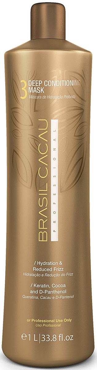 Brasil Cacau Маска глубокого кондиционирования 1000 мл12376Закрепляющая маска – приводит в норму кислотно-щелочной баланс волос и полотно волос получает достаточное количество питательных веществ.