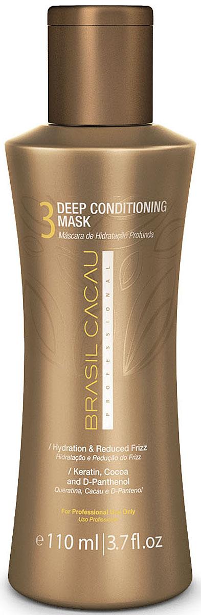 Brasil Cacau Маска глубокого кондиционирования 110 мл21054Закрепляющая маска – приводит в норму кислотно-щелочной баланс волос и полотно волос получает достаточное количество питательных веществ.
