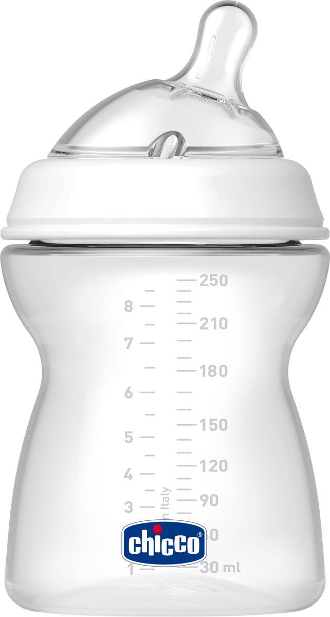 Chicco Бутылочка для кормления с силиконовой соской Natural Feeling от 2 месяцев 250 мл