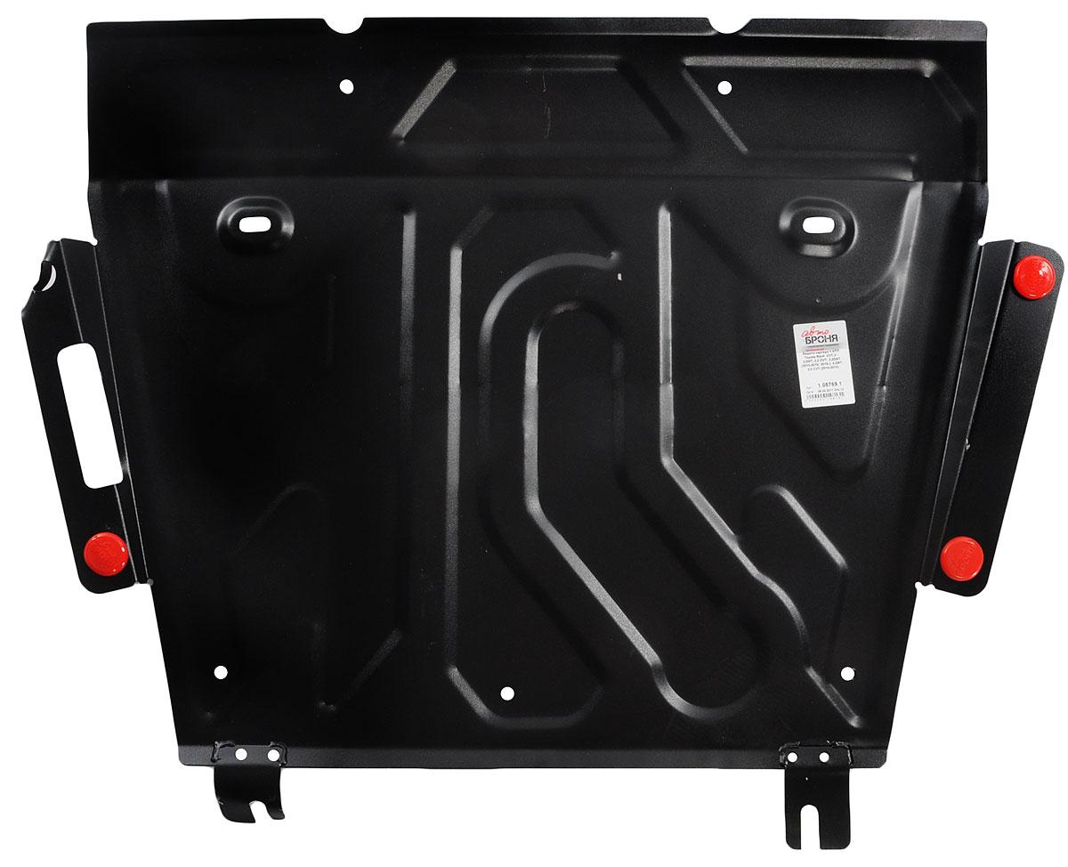 Защита картера и КПП Автоброня, для Toyota Rav 4VCA-00Технологически совершенный продукт за невысокую стоимость.Защита Автоброня разработана с учетом особенностей днища автомобиля, что позволяет сохранить дорожный просвет с минимальным изменением.Защита устанавливается в штатные места кузова автомобиля. Глубокий штамп обеспечивает до двух раз больше жесткости в сравнении с обычной защитой той же толщины. Проштампованные ребра жесткости препятствуют деформации защиты при ударах.Тепловой зазор и вентиляционные отверстия обеспечивают сохранение температурного режима двигателя в норме. Скрытый крепеж предотвращает срыв крепежных элементов при наезде на препятствие.Шумопоглощающие резиновые элементы обеспечивают комфортную езду без вибраций и скрежета металла, а съемные лючки для слива масла и замены фильтра - экономию средств и время.Конструкция изделия не влияет на пассивную безопасность автомобиля (при ударе защита не воздействует на деформационные зоны кузова). Со штатным крепежом. В комплекте инструкция по установке.Толщина стали: 2 мм.Уважаемые клиенты!Обращаем ваше внимание, что элемент защиты имеет форму, соответствующую модели данного автомобиля. Фото служит для визуального восприятия товара и может отличаться от фактического.