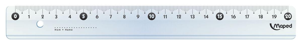 Maped Линейка Start 20 см146510Линейка - необходимый инструмент вашего рабочего стола.