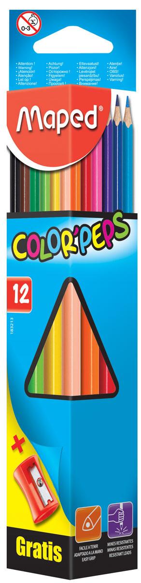 Maped Набор цветных карандашей Colorpeps 12 цветов + точилка