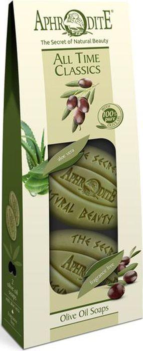 Aphrodite Набор мыла оливкового Классика на все времена: с алоэ вера и оригинальное без отдушек, 2 х 170 г9474Aphrodite создает уникальное оливковое мыло, опираясь на богатый опыт поколений и традиционные греческие рецепты. Предлагаем Вам попробовать набор, состоящий из двух видов мыла, которые вобрали в себя все лучшее из критского оливкового масла и растительных экстрактов. Натуральное мыло бережно очищает, интенсивно увлажняет и защищает кожу от негативного влияния внешних факторов. Набор будет достойным подарком людям, которые отдают предпочтение гипоаллергенным продуктам с натуральными компонентами и без выраженного запаха. Идеальное решение для сухой, чувствительной кожи, склонной к аллергии и различным дерматитам. Подходит для ежедневного ухода за нежной детской кожей.Натуральные косметические средства Aphrodite – это классика на все времена!
