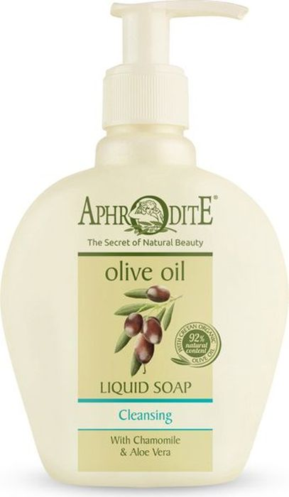 Aphrodite Мыло жидкое с алоэ вера и ромашкой, 250 мл72523WDЖидкое мыло с алоэ вера и ромашкой бережно и глубоко очищает кожу, сохраняет гидролипидный баланс, не удаляя естественные кожные жиры. Сбалансированный комплекс из питательного органического оливкового масла и экстрактов алоэ вера и ромашки делают кожу мягкой и эластичной. Эти натуральные ингредиенты обеспечат Вашу кожу необходимой влагой, а их противовоспалительные и бактерицидные свойства защитят и успокоят сухую, чувствительную кожу рук. Жидкое мыло не содержит сульфатов, только мягкие ПАВы для смягчения и очистки кожи рук.Греческая косметика на основе оливкового масла эффективна при дерматите, опрелостях и различных проблемах кожи.