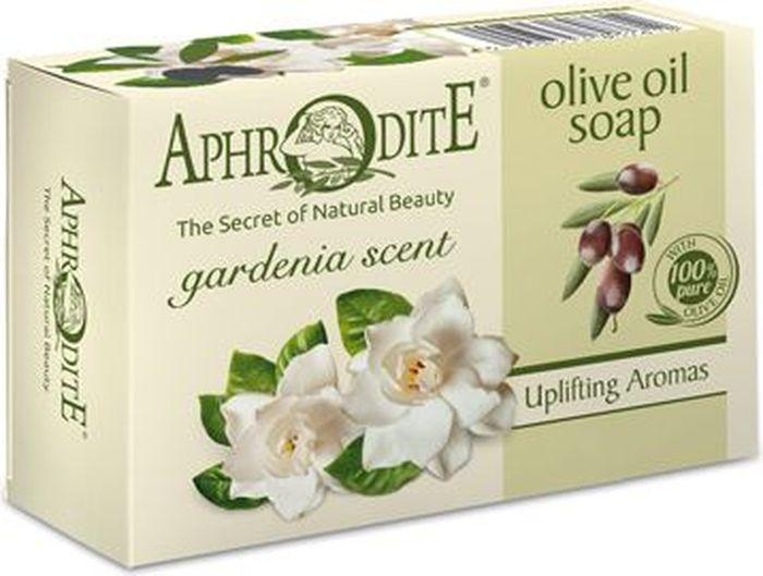 Aphrodite Мыло оливковое с ароматом гардении, 100 гAC-2233_серыйОливковое мыло, обогащённое витамином E и олеиновой кислотой, обладает изысканным ароматом нежного цветка гардении - тихим, мягким и спокойным. Входящее в состав оливковое масло, великолепно насыщает влагой сухую и проблемную кожу, разглаживает ее и делает более гладкой и эластичной. Мыло обладает антибактериальными свойствами, защищает от бактерий и грибков.100% натуральный продукт. Не содержит консервантов, животных жиров и искусственных красителей.