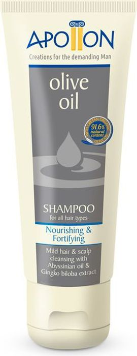 Aphrodite Шампунь для волос Увлажнение и укрепление с абиссинским маслом и гингко билоба, 200 млZ-86Универсальный мужской шампунь на основе критского оливкового масла является эффективным средством для ежедневного использования.В состав улучшенной формулы шампуня APOLLON вошли натуральные компоненты, идеально подходящие для мужского эпителия. Мягкие ПАВы кокоса, экстракты розмарина и гинко билоба, абиссинское масло, биотин, витамин B3, гуаровая смола и инулин стимулируют рост волос, восстанавливают их здоровый блеск и тонизируют кожу головы. Шампунь без сульфатов и парабенов поддержит привлекательность представителя сильного пола и подарит здоровье и силу волосам.Основа косметических средств Aphrodite – натуральные компоненты без добавления искусственных красителей или консервантов.