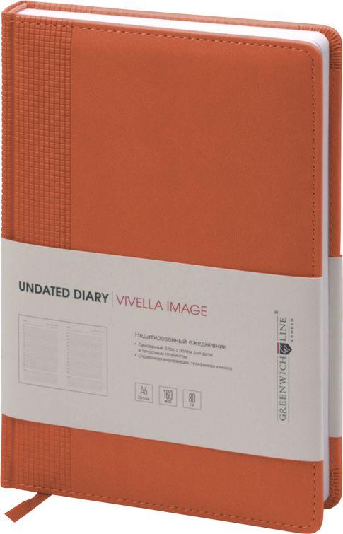 Greenwich Line Ежедневник Vivella Image недатированный 160 листов цвет оранжевый формат A6 -  Ежедневники, блокноты, записные книжки