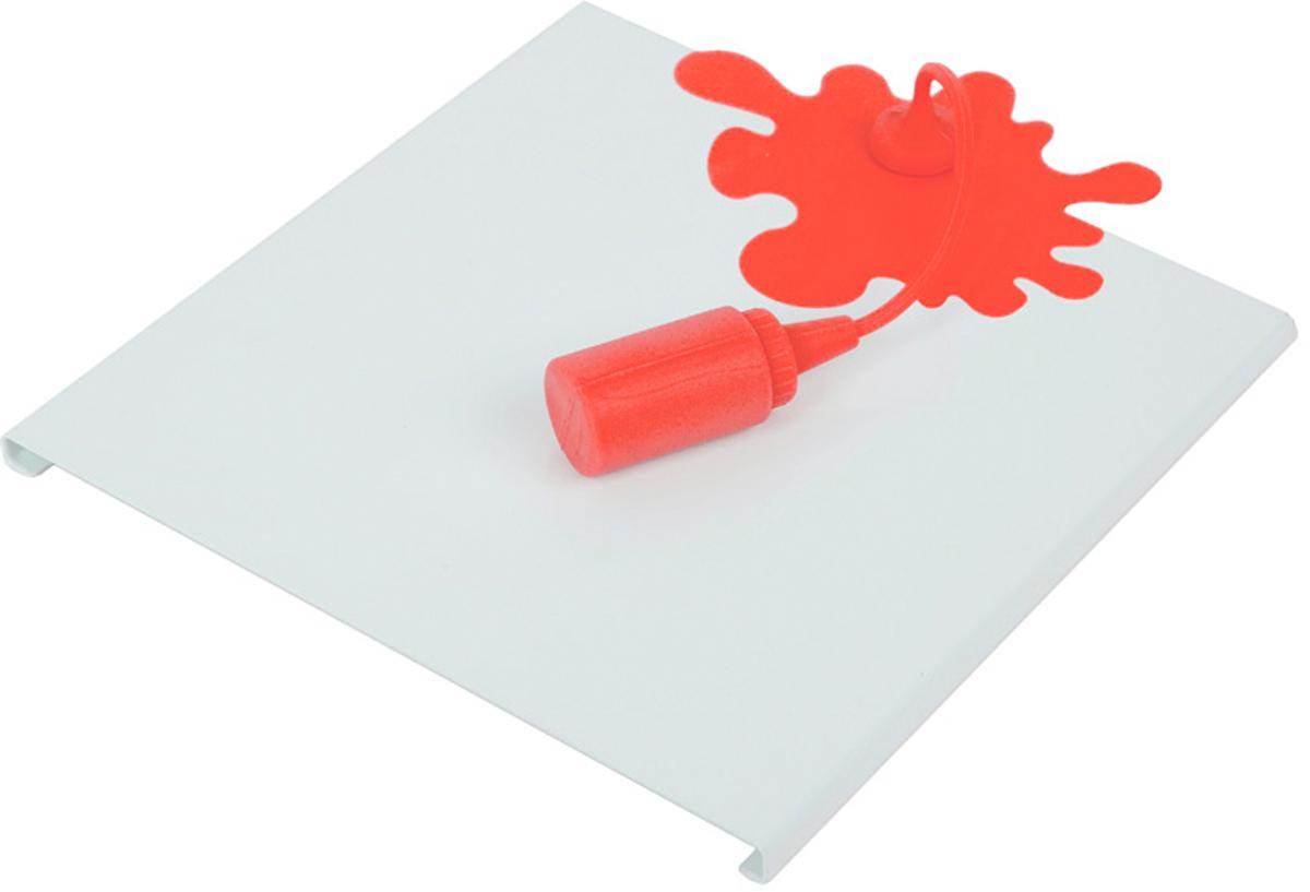 Держатель для салфеток Balvi Ketchup Spill, цвет: белый115510Если вы любите нестандартное исполнение обыденных вещиц, то креативный держатель для салфеток Ketchup Spill станет незаменимым аксессуаром на вашей кухне. Держатель выполнен в виде эффектной подставки в форме разлитого кетчупа. Даже самые обычные белые салфетки будут выгодно смотреться в этом держателе, который буквально приковывает внимание своим оригинальным дизайном. Держатель прекрасно украсит повседневный и праздничный стол, создав расслабляющую атмосферу, подходящую к любой трапезе. -Уникальный дизайн держателя в форме разлитого кетчупа-Держатель для салфеток изготовлен из надежного металла, а баночка - из силикона -Прекрасно впишется в сервировку любого стола