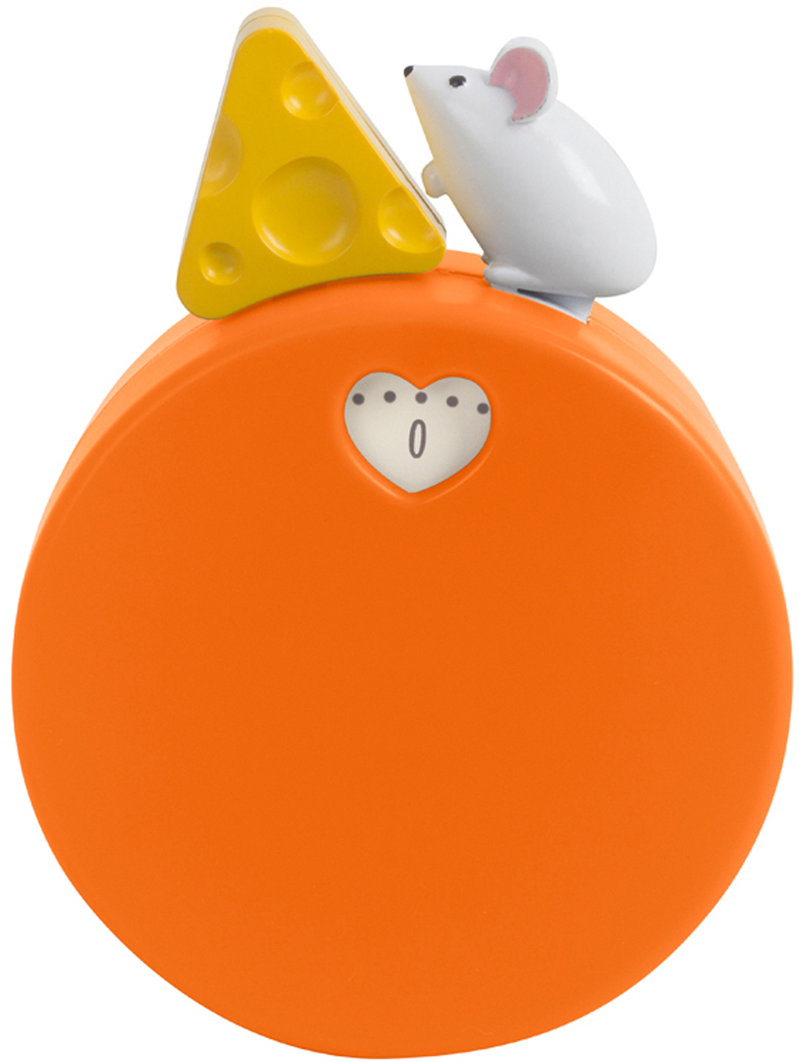Таймер Balvi My Cheese, механический, цвет: оранжевый68/5/3Если вы часто принимаете гостей, много готовите и иногда забываете что-то на плите или в духовке, то вам поможет механический таймер My Cheese. Когда на нем тикает время, можно наблюдать, как мышка бежит за кусочком сыра. Таймер можно использовать не только на кухне, но и для многого другого в повседневной жизни. Для женщин важно всегда выглядеть привлекательно, но маски для лица или рук нельзя держать больше определенного времени. Достаточно поставить таймер на нужный временной отрезок и можно не переживать, что полезная маска окажет вредное воздействие на кожу.-Изготовлен из пластика и металла-Оригинальный дизайн в виде мышки, бегающей за сыром-Имеет магнит для крепления к металлической поверхности