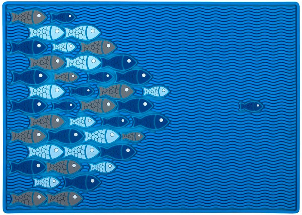 Коврик для сушки посуды Balvi Reef, цвет: синий25950Коврик для сушки посуды Reef будет спасением, если у вас большая семья, а кухня маленькая, и в сушилке постоянно нет места для вымытой посуды. Он выполнен из ПВХ. Он обладает достаточной воздухопроницаемостью и хорошо впитывает влагу. Такой коврик может стать оригинальным подарком для подруги, мамы, коллеги по работе. Эта вещь незаменима в хозяйстве и очень удобна - стильный рисунок подойдет к любому дизайну кухни, а немаленький размер обеспечит место для большого количества посуды.- Нескользящая поверхность.- Разрешена ручная и автоматическая стирка.- Не растягивается в процессе эксплуатации.
