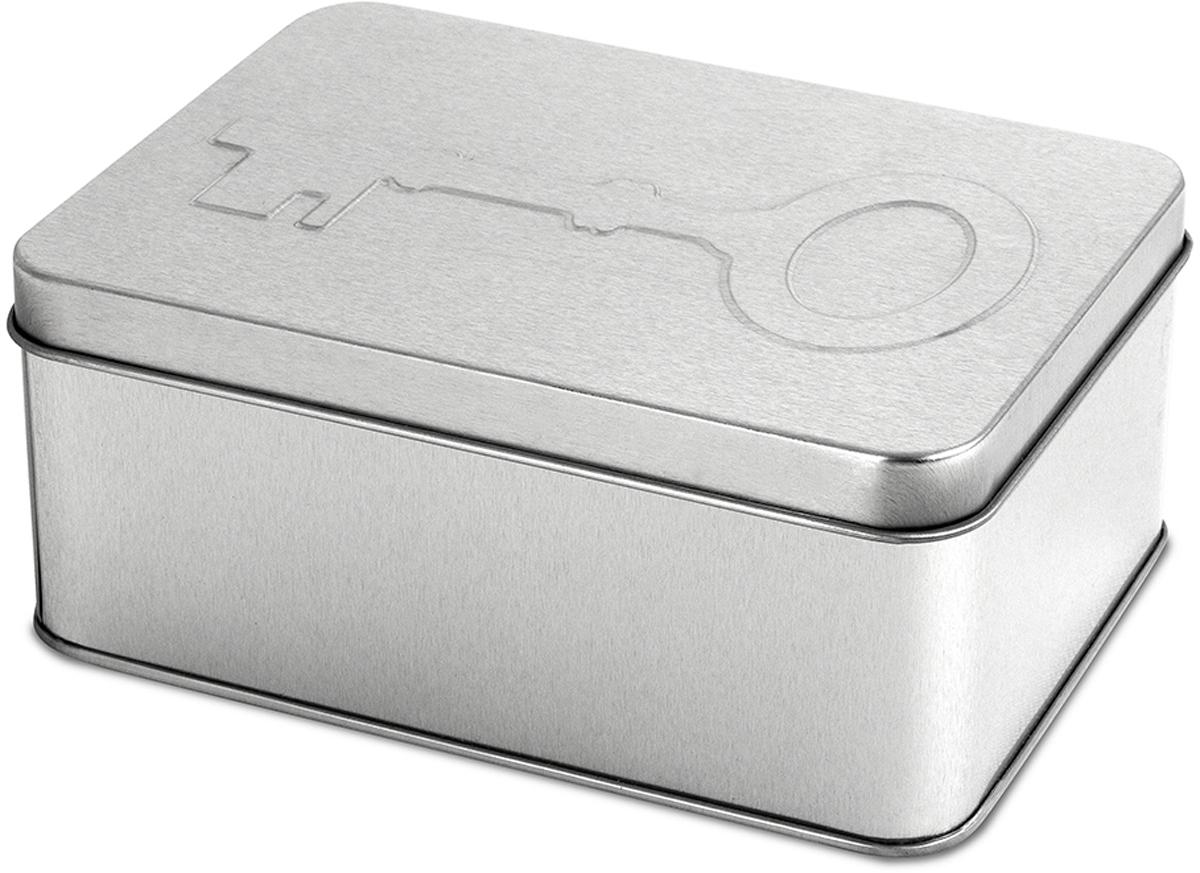 Бокс для ключей Balvi Sesame, цвет: серый металлик25969Стильный металлический бокс для ключей Sesame от испанского бренда Balvi воплощает идею о простоте и лаконичности, сочетающейся с удобством. Небольшая коробочка легко открывается, предоставляя место для хранения самих ключей и различных принадлежностей. Она сделана из легкого, но прочного металла, устойчивого к царапинам и повреждениям. Подчеркивает идею самого бокса символическое изображение классического ключа на крышке. - Стильный и лаконичный дизайн бокса для хранения ключей.- Компактные размеры при достаточной вместительности.- Износостойкое покрытие металла изнутри и снаружи.- Легкое открывание и простота использования.