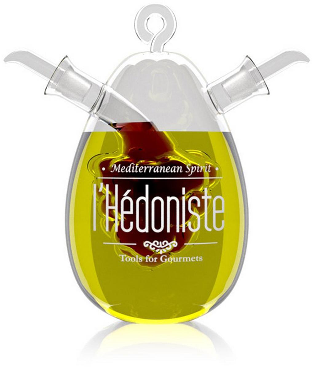 Набор для масла и уксуса Balvi lHedoniste, цвет: прозрачныйSC-FD421004Оригинальным украшением любого стола послужит набор для масла и уксуса lHedoniste. Необычная задумка дизайнера удивит даже самых придирчивых гостей. Он выполнен из прочного стекла и представляет собой 2 сосуда - один находится в другом. Как правило, туда наливают бальзамический уксус и оливковое масло. Вместо уксуса можно налить соевый или любой другой соус, но красивее, конечно, будут смотреться жидкости с контрастными цветами. Этот аксессуар подойдет к кухне, оформленной в любом стиле - везде он впишется и будет уместен.-Изготовлен из стекла-Оригинальный дизайн-Съемные дозаторы позволят легко наполнить сосуды-Объем большого сосуда - 400 мл, малого- 40 мл