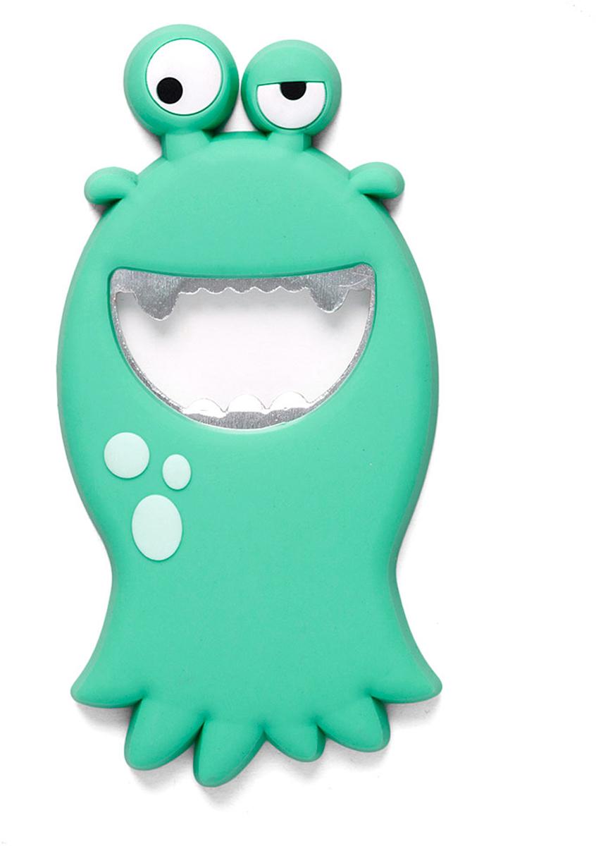 Открывалка Balvi Monster, цвет: бирюзовый26586Открывалка Monster выполнена в ярком бирюзовом цвете. По своему внешнему виду она напоминает забавного монстра из мультфильма, который поднимает настроение, достаточно только взглянуть на него. С ее помощью можно легко и быстро открыть бутылку с прохладительными напитками. А магнит позволит закрепить открывалку на холодильнике или любой другой металлической поверхности.- Необычное и забавное оформление открывалки для бутылок.- Прочный металл и силиконовое покрытие монстра.- Легко крепится к металлической поверхности с помощью магнита.- Компактные размеры, высокая прочность и долговечность.
