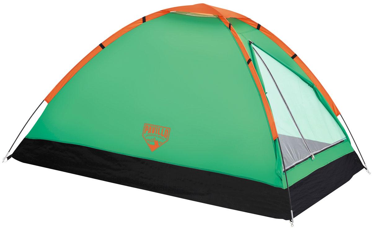 Bestway Палатка Plateau X3 Tent, 3-местнаяAS009Однослойная палатка Bestway Plateau X3 Tent изготовлена из полиэстера 190Т с полиамидным покрытием PA300m. Дно палатки выполнено из полиэтилена плотностью 100 г/м2. На входе имеется сетчатая дверь высокой плотности с защитой от насекомых. Внутри палатки расположен небольшой карман для хранения мелочей. Палатку просто собирать и разбирать, а также удобно переносить благодаря малому весу и небольшим размерам в собранном виде. Палатка рассчитана на 3 взрослых. Легко чистится мягкой сухой губкой, естественная сушка. Размер: 210 х 210 х 130 см.