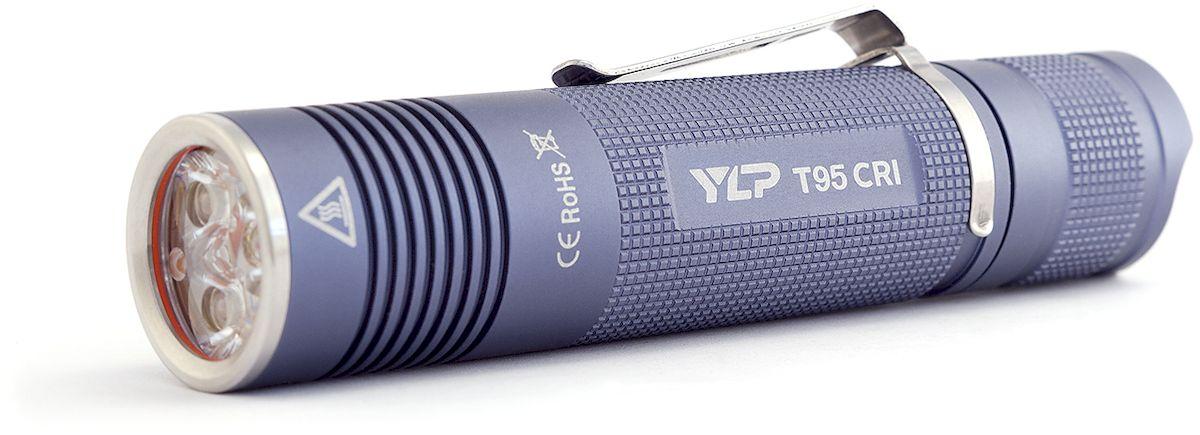 Фонарь ручной Яркий Луч T95 CRI Escort, цвет: серыйKOCAc6009LEDКомпактный фонарь с триплом светодиодов Nichia 219C 93CRI, сочетающий высокую мощность и качественную цветопередачу.Световой поток 800 лмТрипл нейтральных светодиодов Nichia 219C 93CRI 4000KКачественная TIR-оптика Carclo и просветленное стеклоТри режима яркости: 100-50%, 15%, 3%Дальность - 102 метраСтабилизация яркости, улучшенная эффективность электроникиИндикация разряда батареиСъемная клипса для ношенияМедная звезда с прямым отводом теплаРаботает от Li-Ion аккумулятора 18650 (в комплект не входит)Компактный светодиодный фонарь YLP Escort T95CRI обеспечивает широкий мощный луч нейтрального света, оптимальный на ближних и средних дистанциях. Светодиоды Nichia 219C 93CRI позволяют добиться максимально качественной цветопередачи, что дает возможность рекомендовать этот свет фотографам. Также T95CRI можно порекомендовать как универсальный фонарь для работы и активного отдыха тем пользователям, которым важно наиболее корректное и естественное отображение освещаемых объектов.Режимы: 100-50%, 15%, 3%, без памяти.Для защиты от перегрева через 30 секунд работы в максимальном режиме фонарь плавно снижает яркость до стабилизированных 50%.Время работы: сильный режим - 2.2 ч, средний режим - 8 часов, слабый режим - 40 часов.О приближении к разряду аккумулятора фонарь информирует короткими двойными вспышками каждые 30 секунд - это гарантирует, что пользователь не останется внезапно без света.В фонаре используется усовершенствованный драйвер, обеспечивающий более высокую эффективность работы в среднем и слабом режимах, при отсутствии какого-либо видимого мерцания.Для защиты от случайного включения реализована возможность заблокировать фонарь отворотом хвостовой части.Качественный корпус из анодированного алюминия защитит фонарь от ударов и повреждений. Влагозащищенность фонаря IPX-6, что обеспечивает надежную защиту от дождя, а также от кратковременного падения в водуФонарь работает на Li-Ion аккумуляторе формата 186