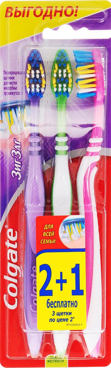 Colgate Зубная щетка Зиг-Заг, средней жесткости, 2+1, цвет зеленый, сиреневый, синийMP59.4DColgate Зубная щетка Зиг-Заг, средней жесткости, 2+1, цвет зеленый, сиреневый, синий