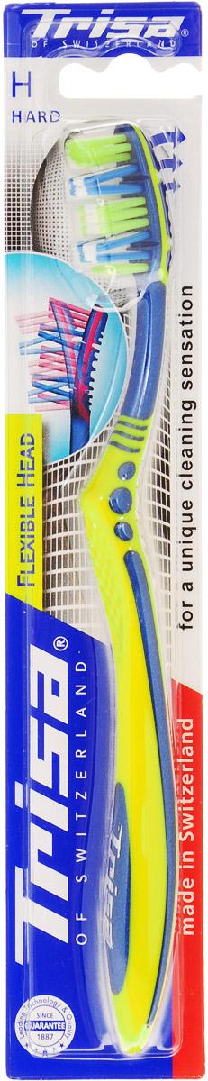 Trisa Зубная щетка Flexible Head, жесткая, цвет желтый517437_желтыйГибкая головка щетки регулирует ее давление на зубы и десны, оказывая щадящее воздействие. Особое расположение щетинок обеспечивает оптимальную чистку зубов и межзубных промежутков.Товар сертифицирован.
