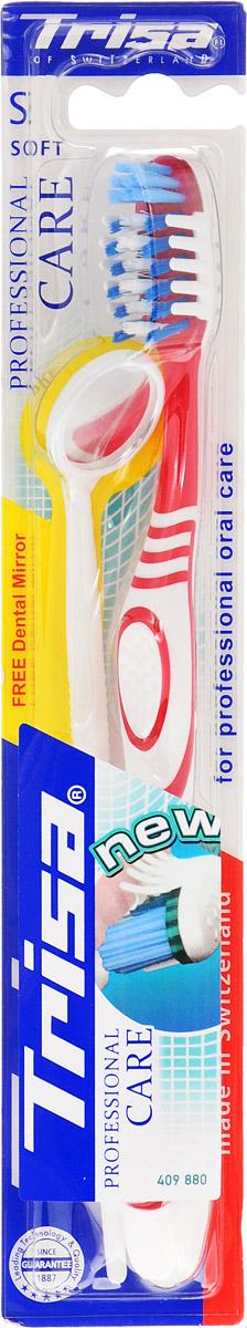 Trisa зубная щетка Профешнл кеа мягкая, цвет: красный. 645885 +ПОДАРОКMP59.3DTrisa зубная щетка Профешнл кеа мягкая, цвет: красный. 645885 +ПОДАРОК