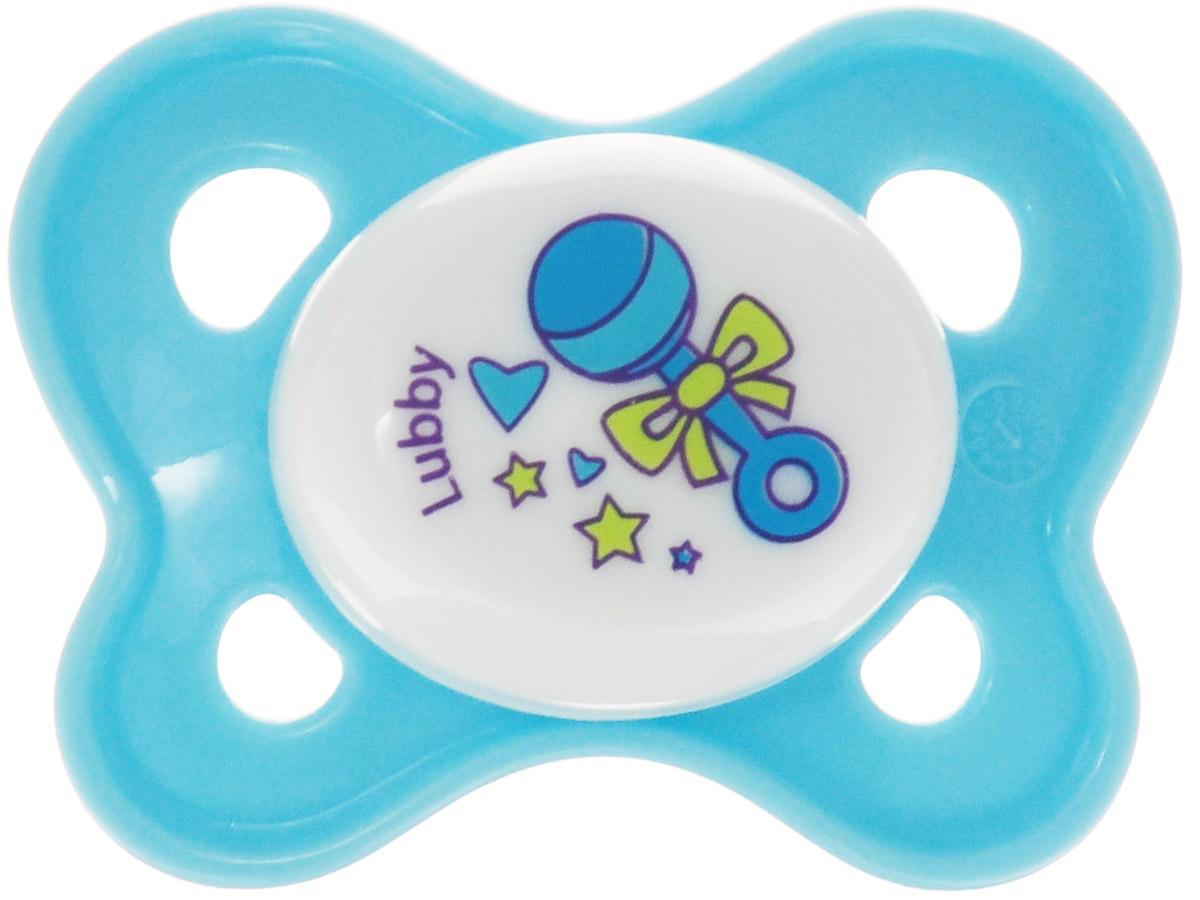 Lubby Пустышка силиконовая Кнопочка Погремушка от 0 месяцев