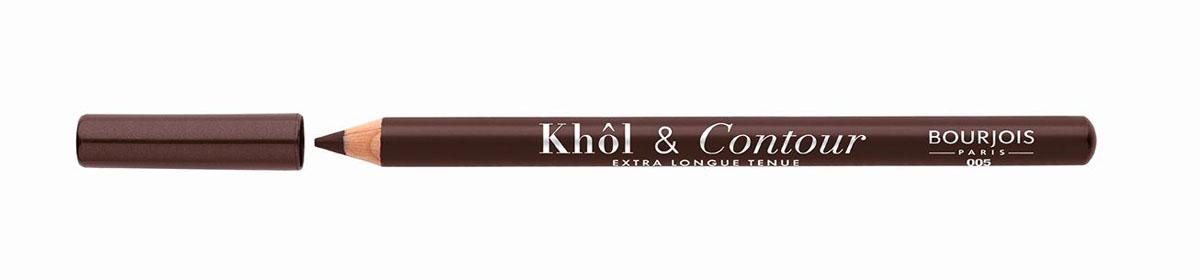 Bourjois Карандаш для глаз контурный Khol & Contour, Тон №005SC-FM20101Мягкая текстура, насыщенные пигментированные оттенки. Стойкость до 16 часов. Подходит для чувствительных глаз благодаря витамину Е и экстракту зеленого чая.