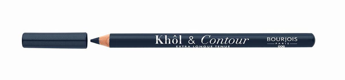 Bourjois Карандаш для глаз контурный Khol & Contour, Тон №00629105333006Мягкая текстура, насыщенные пигментированные оттенки. Стойкость до 16 часов. Подходит для чувствительных глаз благодаря витамину Е и экстракту зеленого чая.