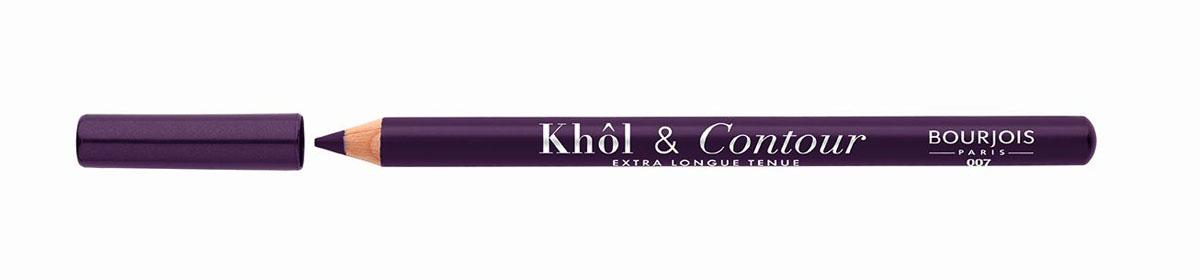 Bourjois Карандаш для глаз контурный Khol & Contour, Тон №00729105333007Мягкая текстура, насыщенные пигментированные оттенки. Стойкость до 16 часов. Подходит для чувствительных глаз благодаря витамину Е и экстракту зеленого чая.