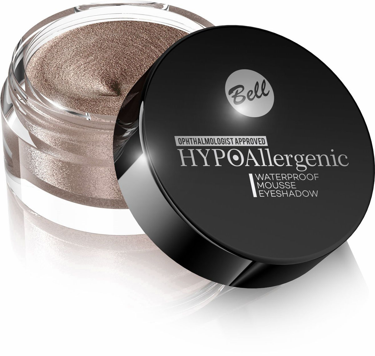 Bell Hypoallergenic Кремовые тени для век Waterproof Mousse Eyeshadow, Тон №01BcmHA001