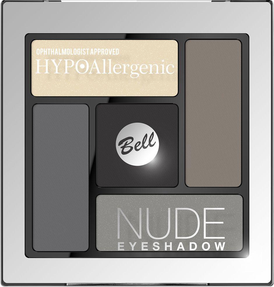 Bell Hypoallergenic Тени для век сатиново-кремовые Nude Eyeshadow, Тон №02BcnHA002