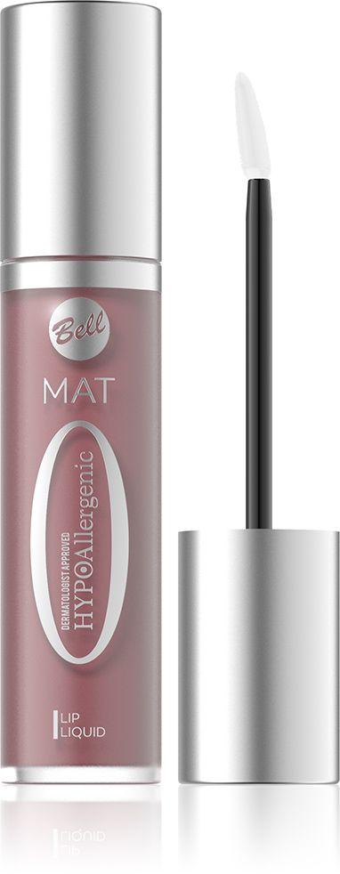 Bell Hypoallergenic Матовая жидкая помада Mat Lip Liquid, Тон №02, 20 млMFM-3101Ультрамодные, идеально кроющие и стойкие оттенки, матовый эффект уже при первом нанесении. Жидкая формула позволяет легко и точно наносить помаду. Помада не сушит губы и выравнивает поверхность. Гладкие, мягкие губы насыщенного цвета в течение всего дня!