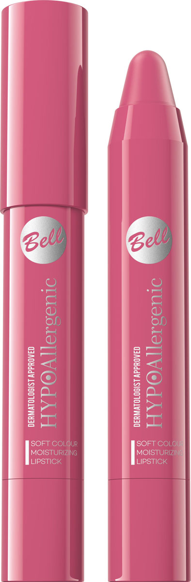 Bell Hypoallergenic Помада-карандаш для губ Soft Colour Moisturizing Lipstick, Тон №03BposHA003