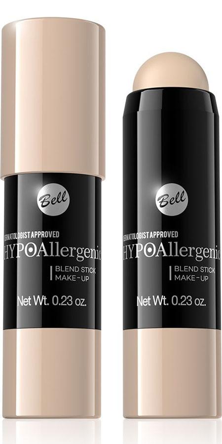 Bell Hypoallergenic Флюид-карандаш, интенсивно скрывающий недостатки Blend Stick Make-Up, Тон №02BsbHA002