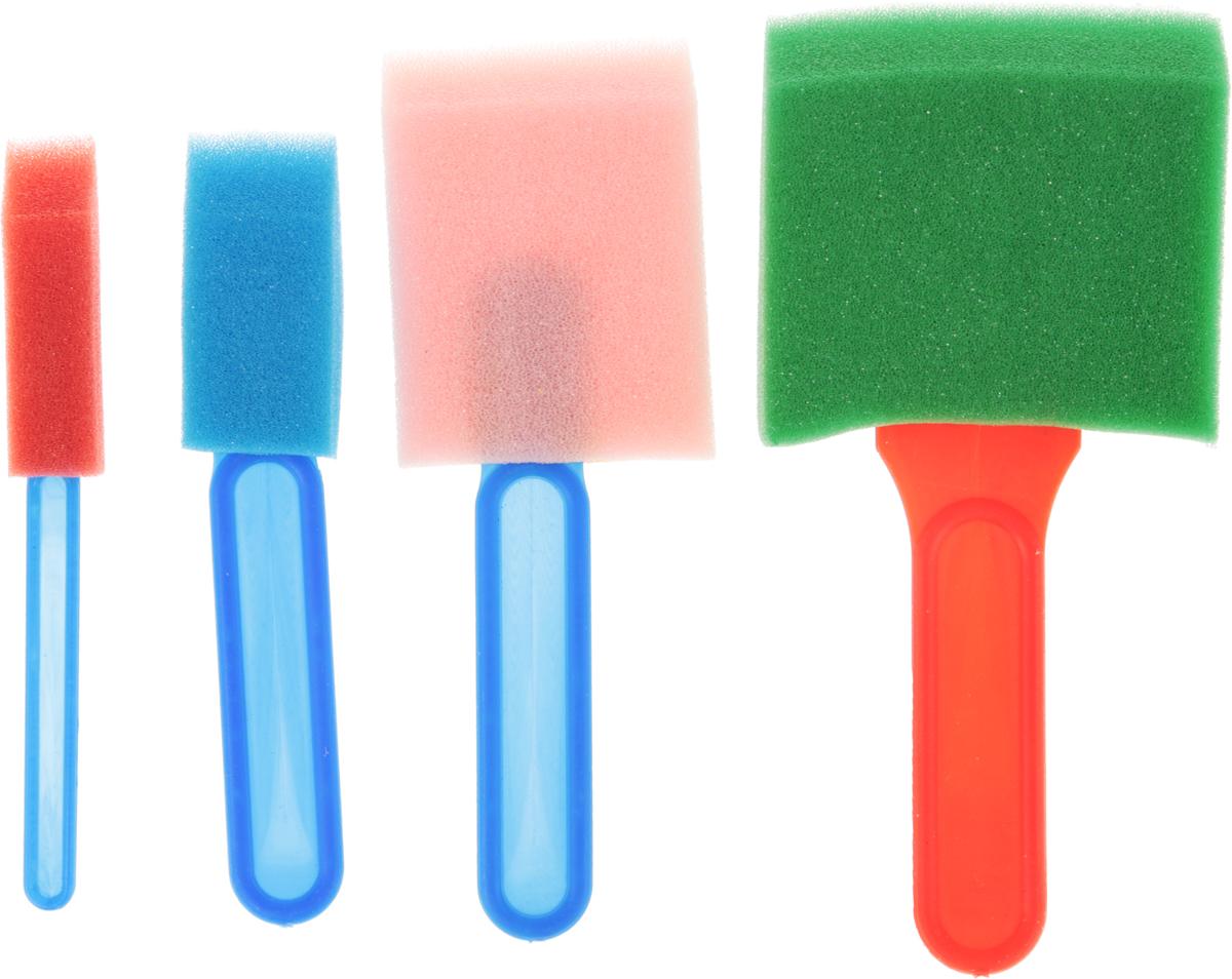 Набор кистей-спонжей 4 шт1399219Набор кистей-спонжей различных размеров используется для рисования, для создания ровных кругов, экономного нанесения краски через трафарет. В наборе четыре кисти.Уважаемые клиенты!Обращаем ваше внимание на цветовой ассортимент товара. Поставка осуществляется в зависимости от наличия на складе.