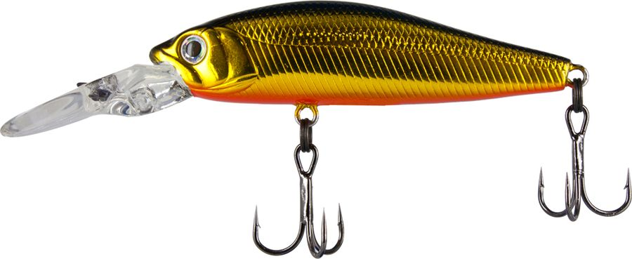 "Воблер Tsuribito Deep Diver Minnow F, цвет 001, 60 мм43240Приманки серии Deep Diver Minnow от фирмы Tsuribito относятся к типу ""минноу"". Воблеры этой серии оснащаются крупной, мощной лопастью вытянутой формы с креплением для лески на ней и двумя надежными тройными крючками. Воблеры оснащаются системой дальнего заброса в виде шарика, перемещающегося при забросе в хвостовую часть приманки, что наделяет эти приманки большой дальнобойностью и удивительной точностью заброса. Воблер обладает активной игрой, устойчивой на любой скорости подмотки. Очень хорошо Deep Diver показал себя при ловле на течении. Для анимации этих приманок подойдет равномерная проводка, а также твичинг различной интенсивности. Отлично ловит многие виды рыб, особенно такие, как щука и судак."