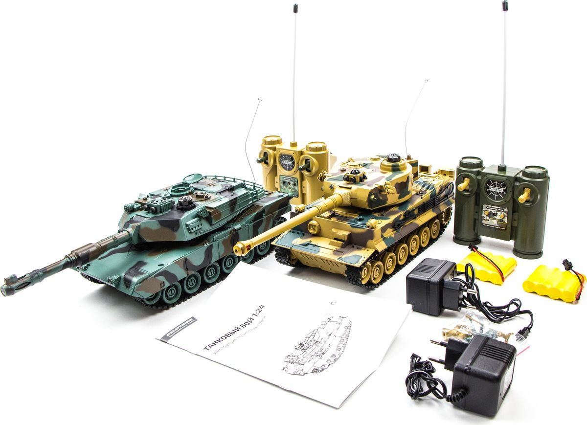Pilotage Набор танков на радиоуправлении Танковый бой Tiger vs M1A2