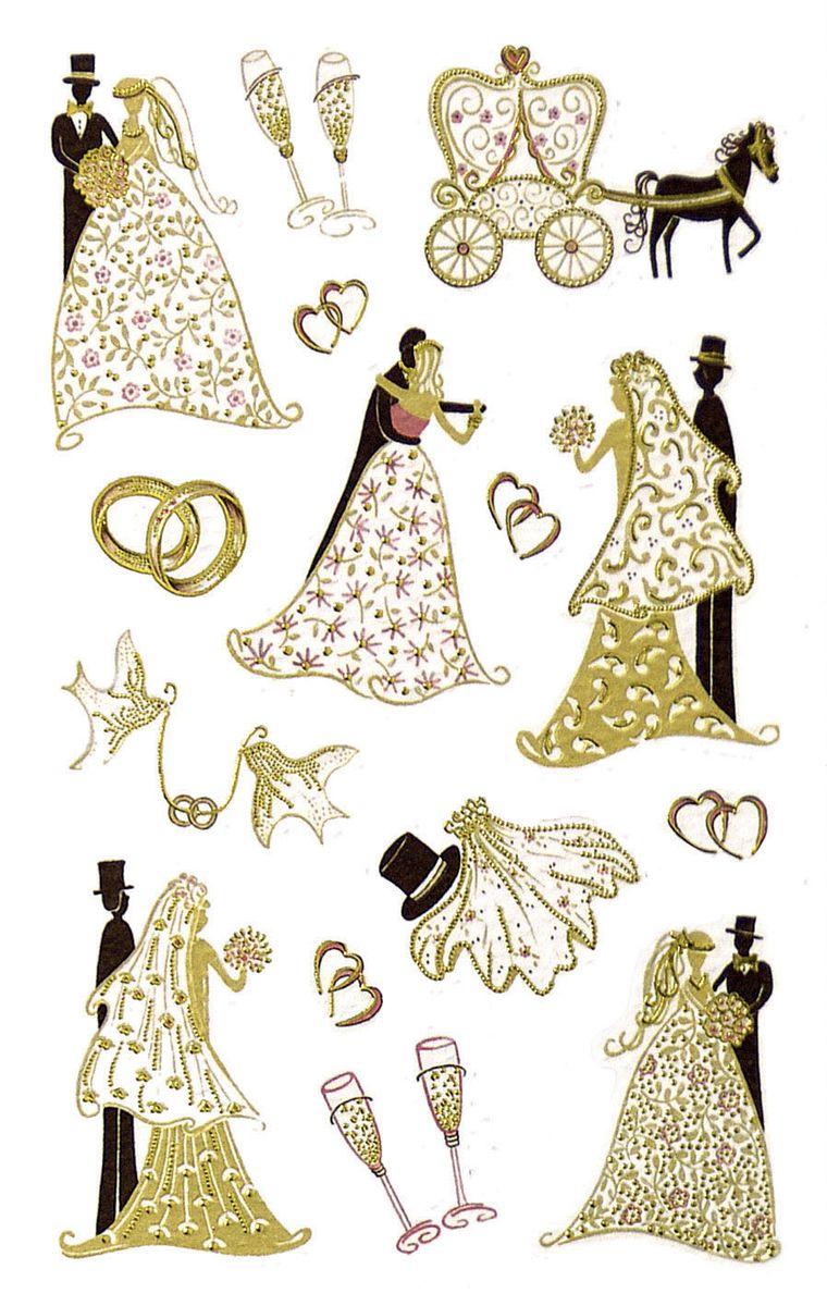 Avery Zweckform Набор наклеек Премиум Свадьба 15 шт55176Специальная серия самоклеящихся этикеток вдохновляет на яркие идеи! Яркие цвета, качественная бумага, необычный дизайн не оставят равнодушными всех любителей самоклеящихся стикеров.Наклейки Свадьба идеальны для декорирования и рукоделия. Яркие позолоченные фигурки со свадебной символикой украсят ваше поздравление или подарок.