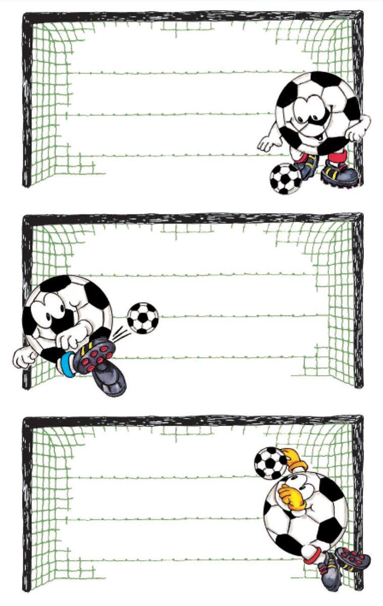Avery Zweckfrom Набор наклеек на обложки Футбол 9 шт