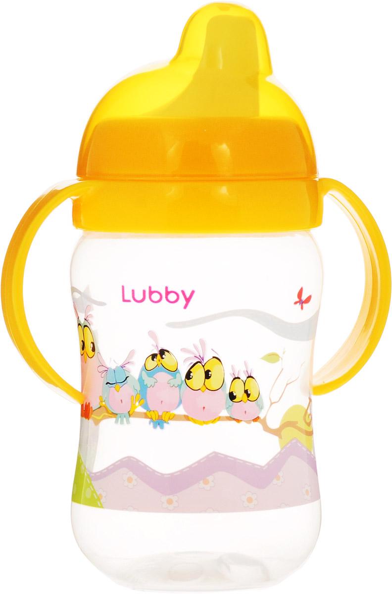 Lubby Поильник-непроливайка Веселые животные от 6 месяцев цвет желтый 250 мл -  Поильники