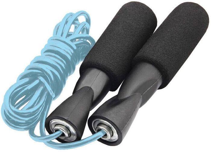 Скакалка на подшипниках Atemi, цвет: синийAJR-05 blueСкакалка с подшипниками подойдет для занятий фитнесом, разогрева перед тренировками и сжигания лишних калорий. Ручки скакалки покрыты неопреном, препятствующимскольжению рукии впитывающим выделяемую влагу, делая, таким образом, упражнения со скакалкой более приятными и безопасными. Металические подшипники в ручках скакалки предотвращают запутывание веревки и увеличивают срок ее эксплуатации. Быстрая регулировка под себя без использования инструментов.