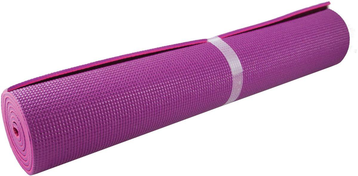 Коврик для йоги Atemi, двойной, 173 х 61 х 0,6 коврик для йоги с рисунком atemi aym 01 pic